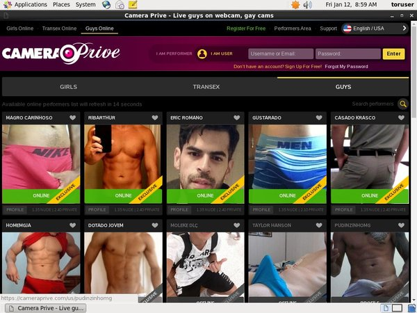 CameraPrive Gay Webcams Account Gratis