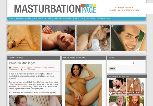 Masturbation Page With Westbill