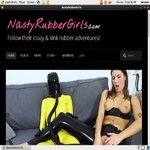 Nasty Rubber Girls Foot Fetish