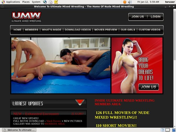 Ultimatemixedwrestling.com Com Discount