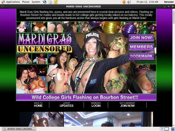 Mardi Gras Uncensored Discount Promo