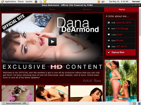 Dana DeArmond Daily Accounts