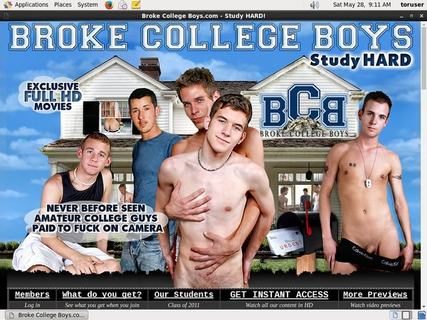 Sign Up For Broke College Boys