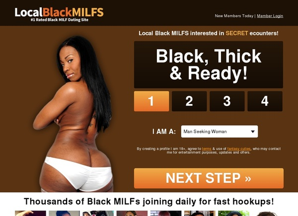 Local Black Milfs Save 50% On 30Day Pass